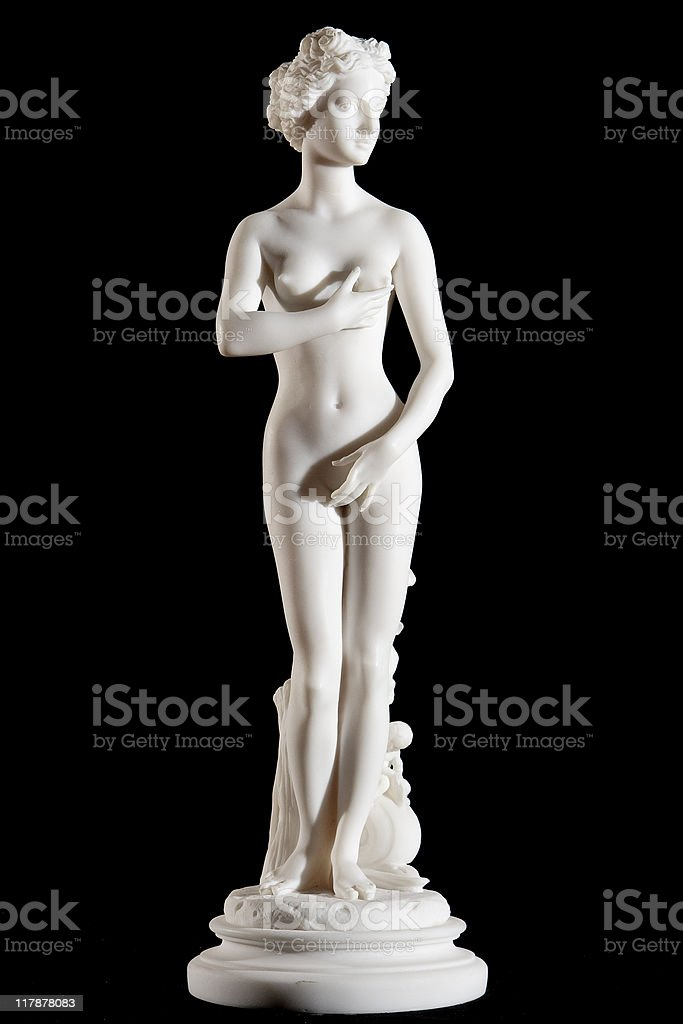 Classic white statue of woman royalty-free stock photo