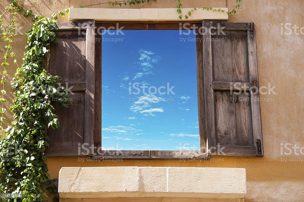 Classic window sky royalty-free stock photo