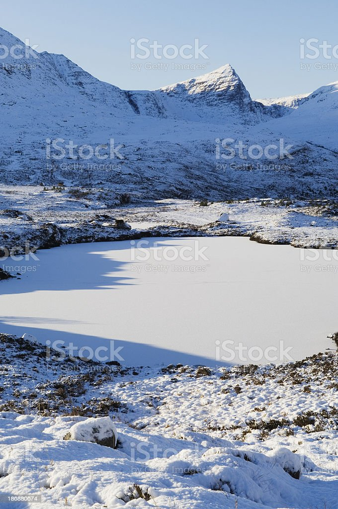 Classic winter Scottish Highland scenery royalty-free stock photo