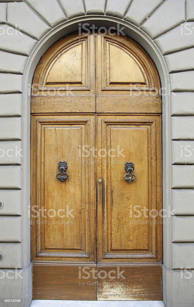 Classic wooden door royalty-free stock photo