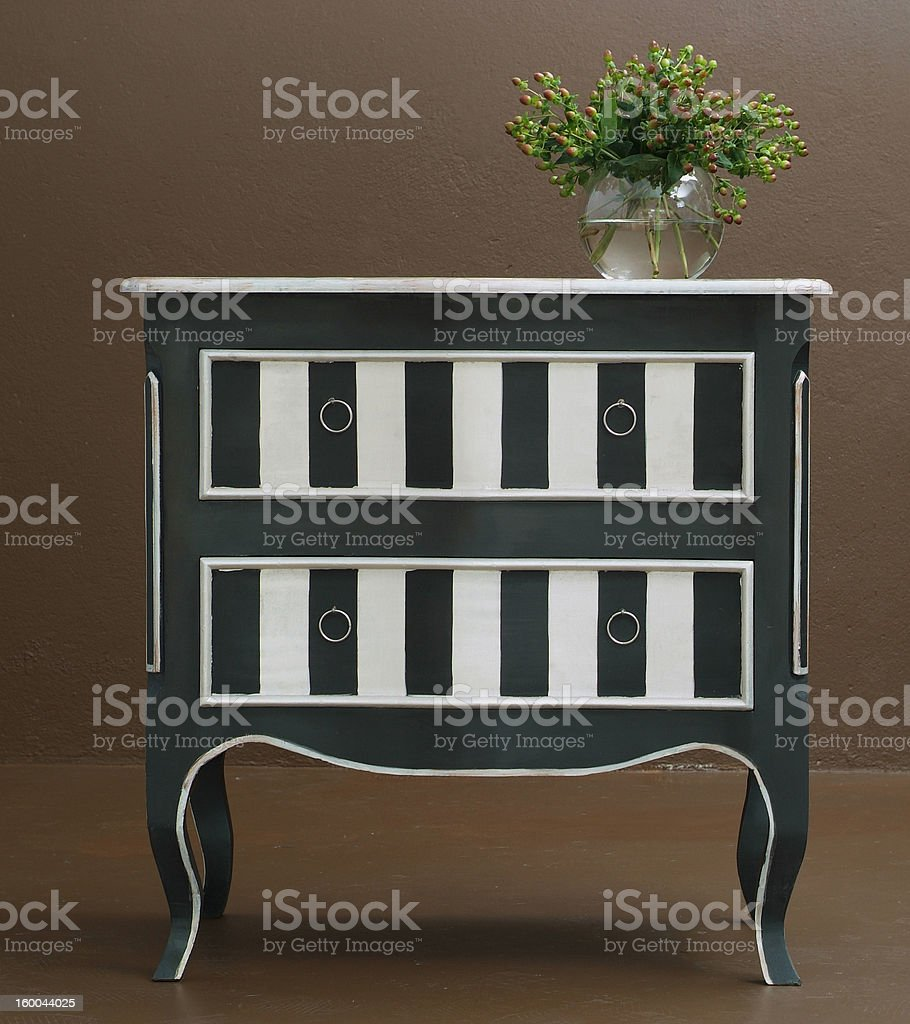 Classic wooden dresser royalty-free stock photo