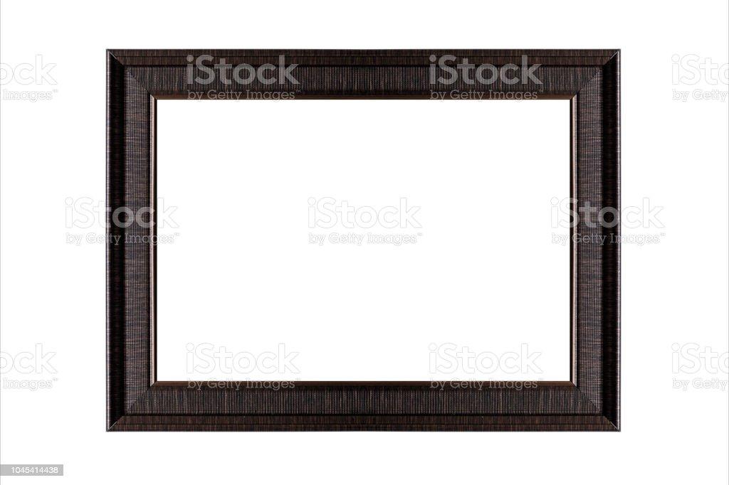 Klassisches Holz-Bilderrahmen auf weißem Hintergrund – Foto