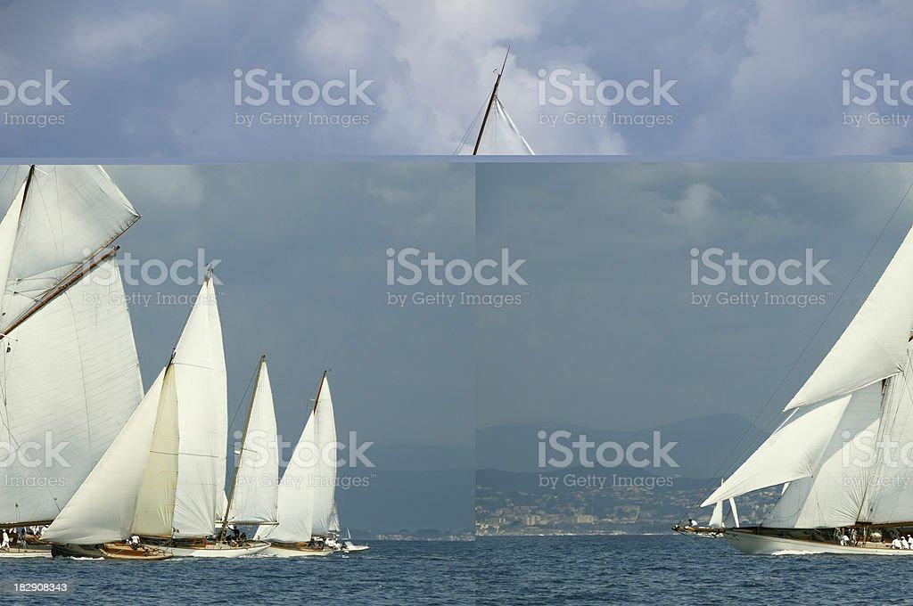 Classic yacht racing royalty-free stock photo