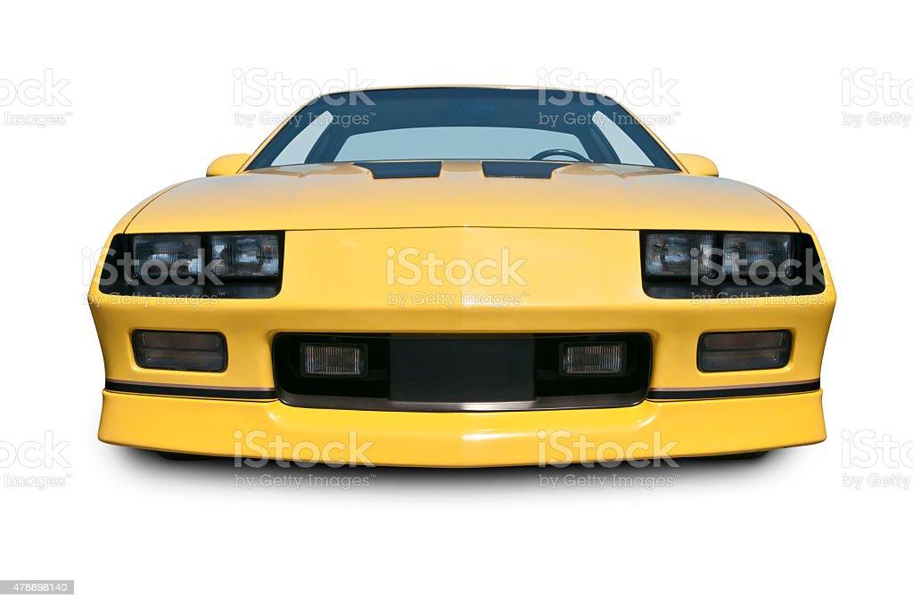 Classic yellow car stock photo