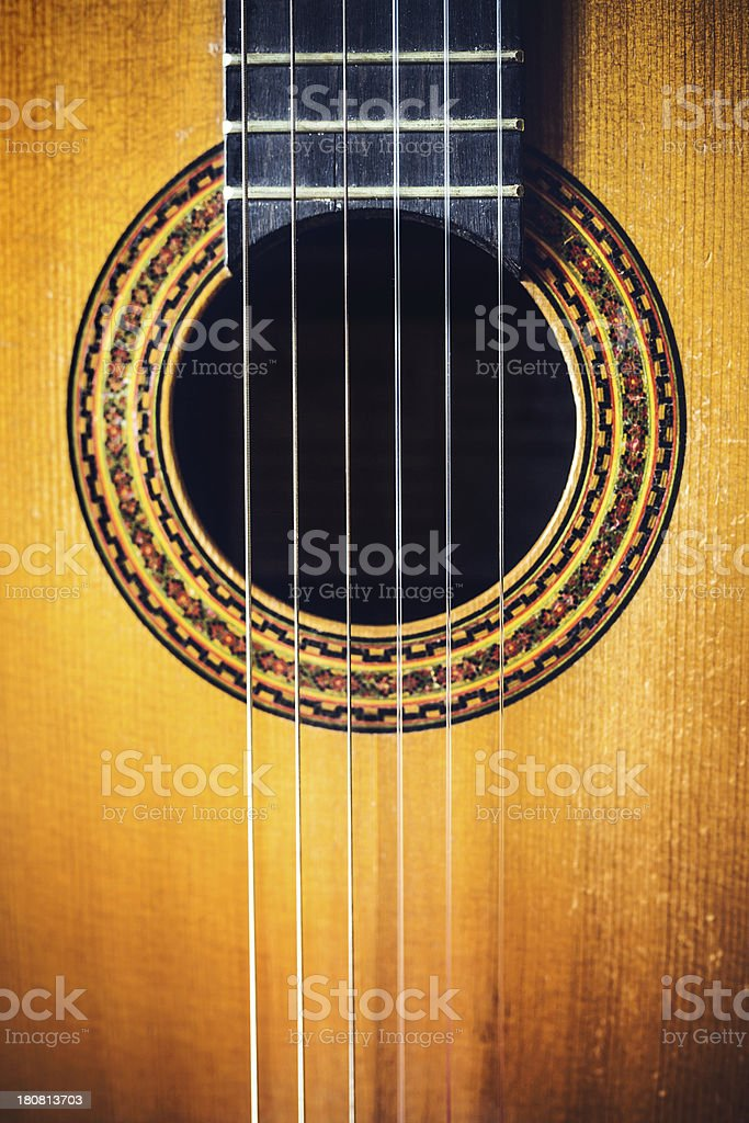 Classical Acoustic Guitar Detail royalty-free stock photo