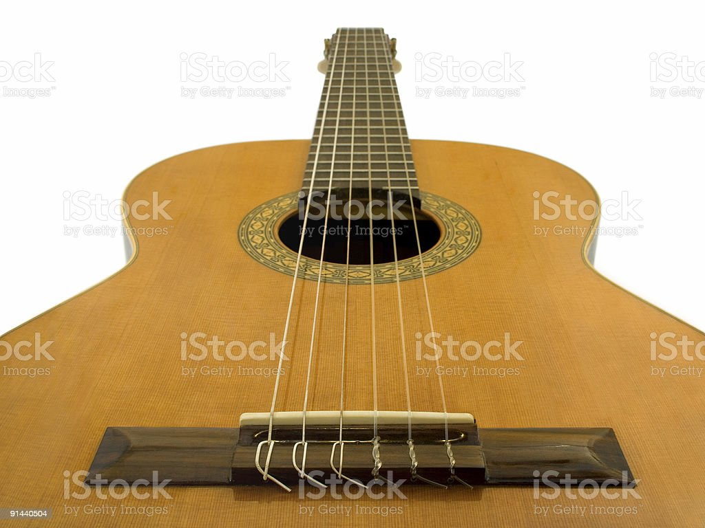 Classical acoustic guitar royalty-free stock photo