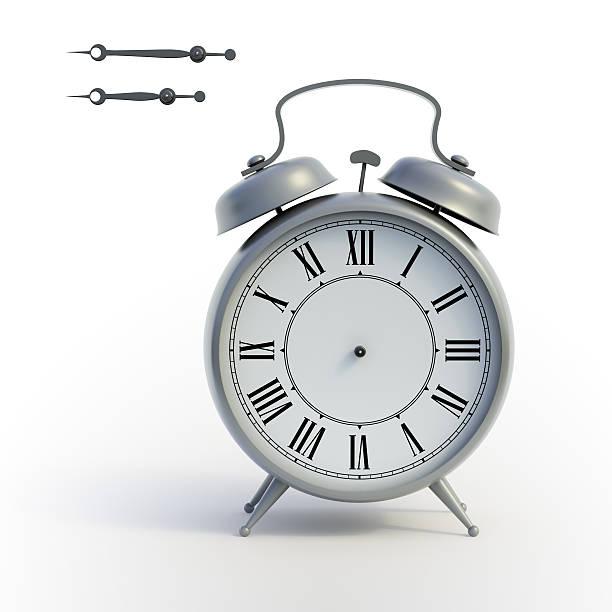 Classical alarmclock stock photo