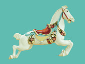 Classical Antique Style Child and Baby Toy Carousel Horse