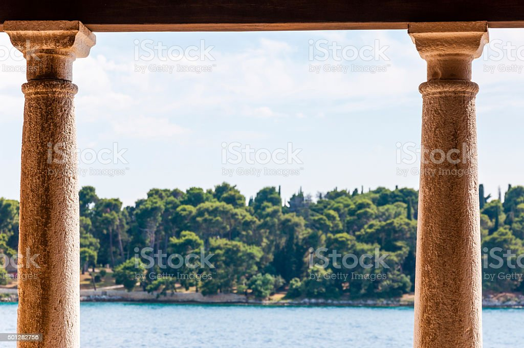 Classical architectural columns. stock photo