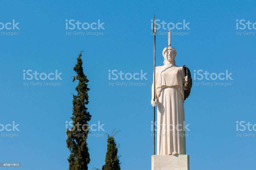 classical Athena statue stock photo