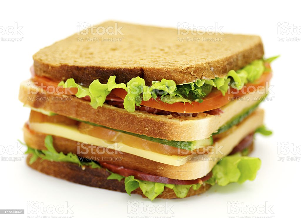 Classical BLT Club Sandwich royalty-free stock photo