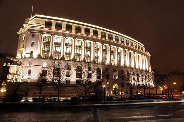 Classical building on Blackfriars Road stock photo