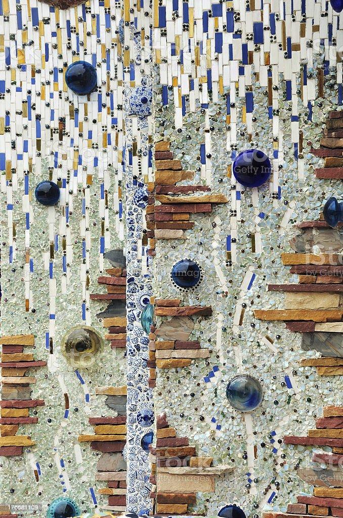 Clásica con azulejos de cerámica roto fondo de pared foto de stock libre de derechos