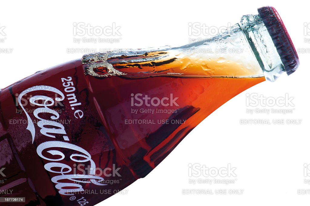 Clásica de botella de Coca-Cola - foto de stock