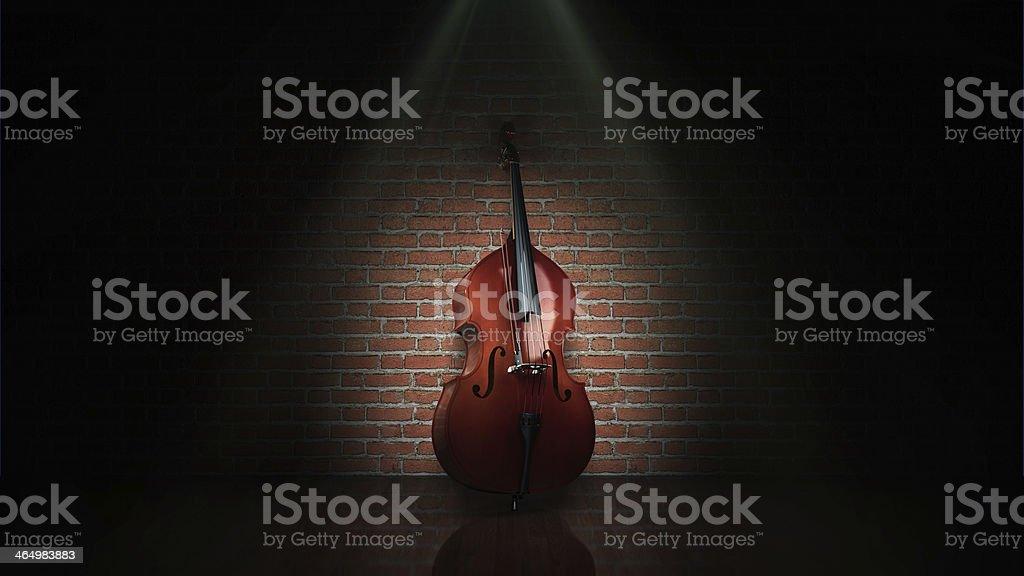 classical contrabass stock photo