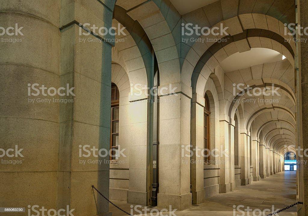 Classical corridor stock photo