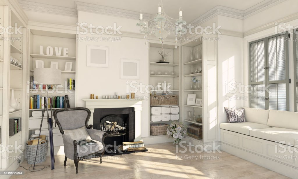 Classical designed living room interior stock photo more pictures of apartment istock for Soggiorno arredato