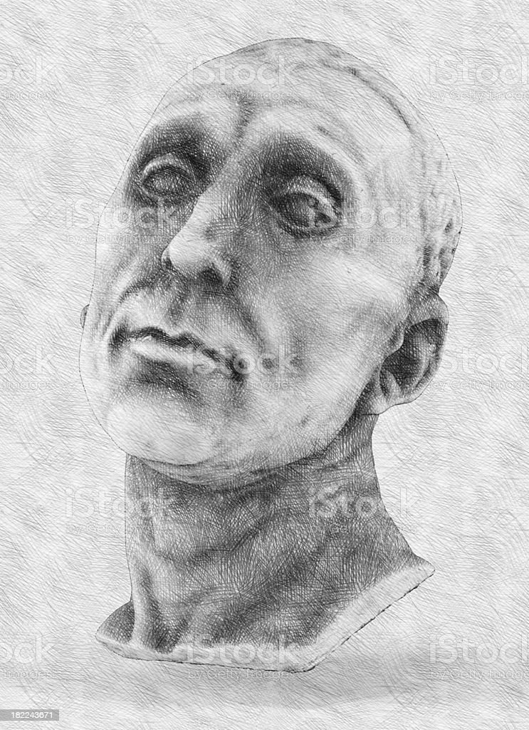 Classical draw. Imitation of hand drawing. royalty-free stock photo