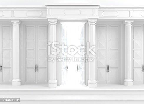 istock Classical facade with columns 946361012