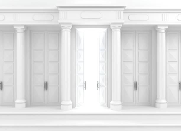 klassiska fasad med kolumner - palats bildbanksfoton och bilder