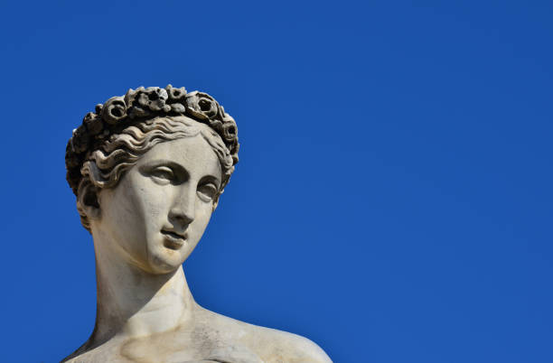 classical goddess statue - roman stock photos and pictures