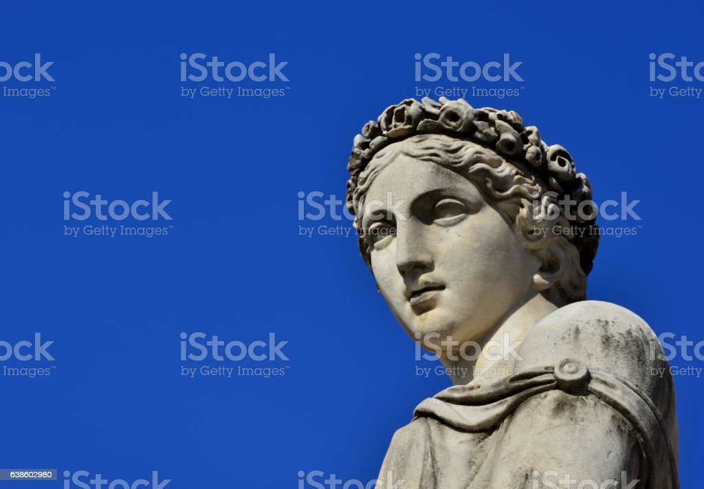 Classical goddess statue stock photo