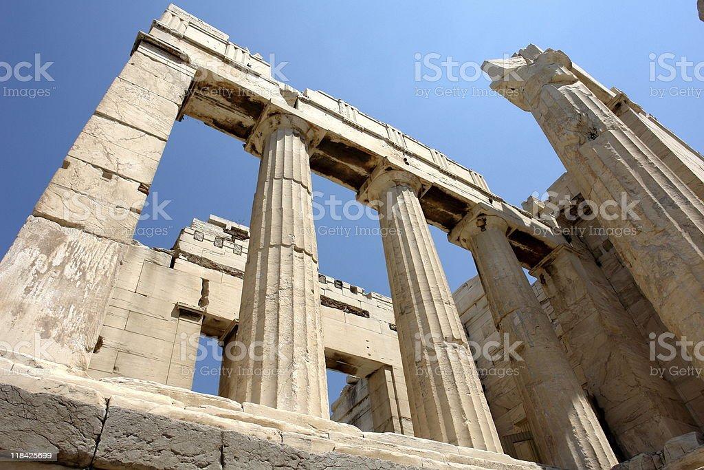Classical Greek Columns stock photo