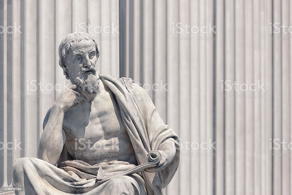 Classical greek sculpture stock photo