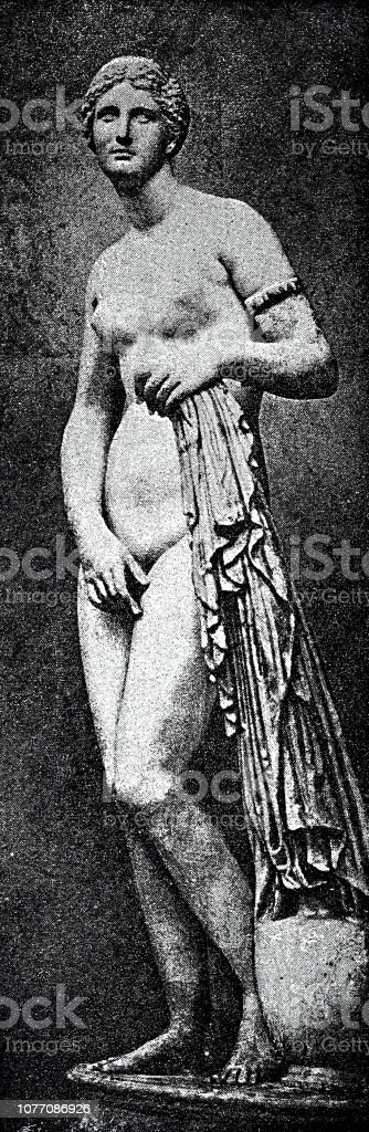 Classical greek, statue of Aphrodite stock photo