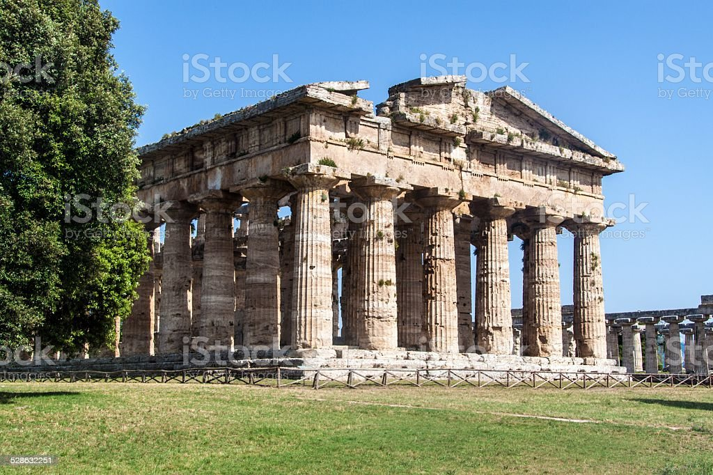 Classical greek temple stock photo