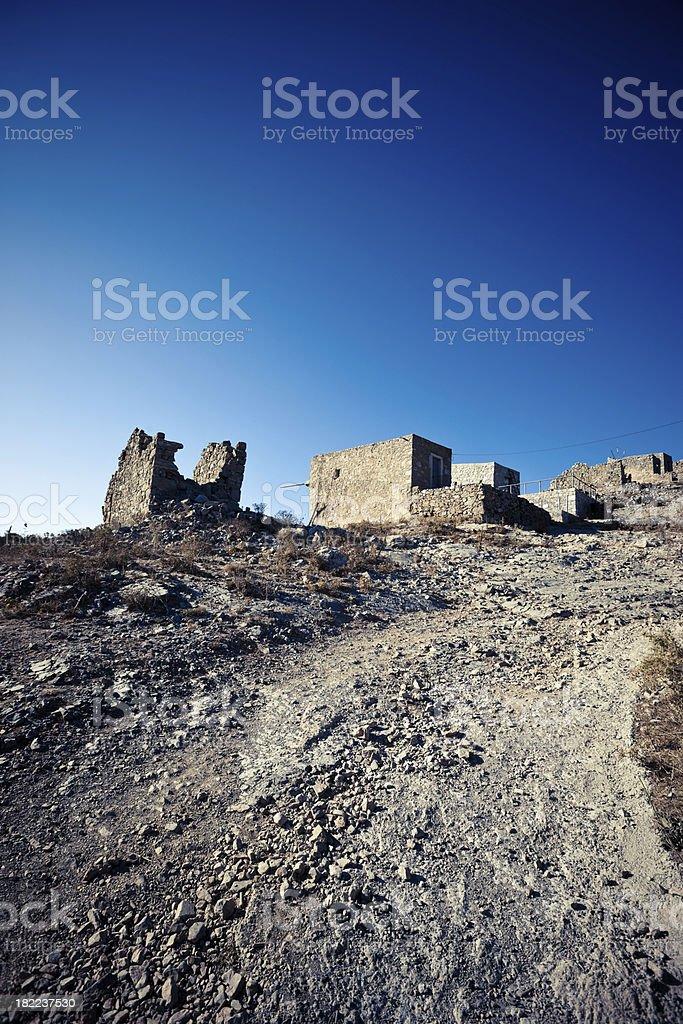 Classical Greek Windmills Ruins royalty-free stock photo