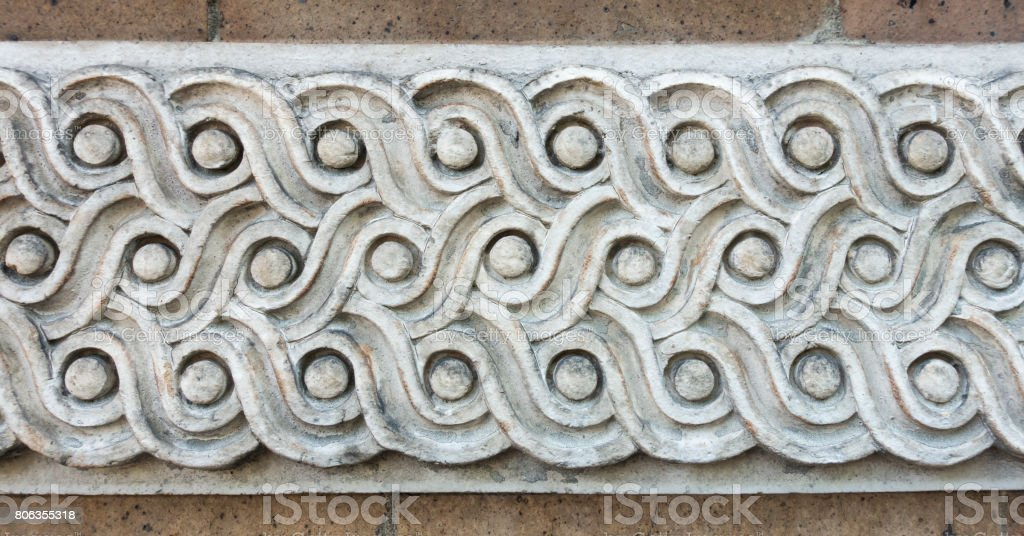 Classical Guilloche Building Molding stock photo
