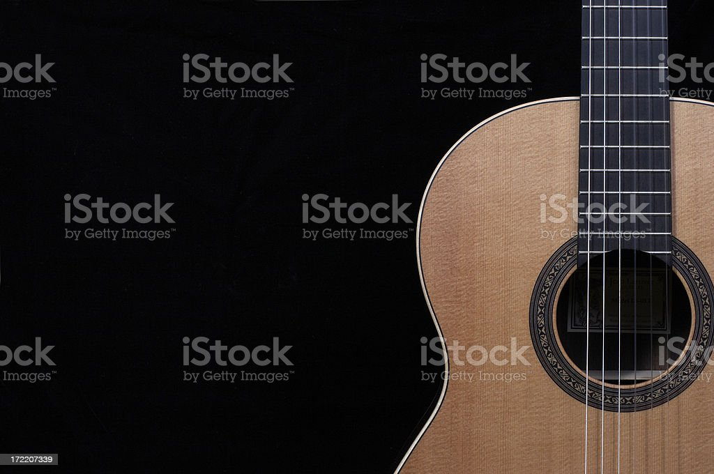 Classical Guitar Close Up royalty-free stock photo
