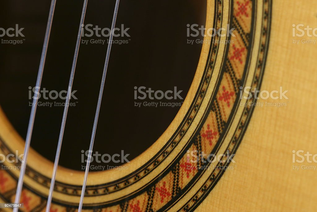 Classical Guitar Parts 1 royalty-free stock photo