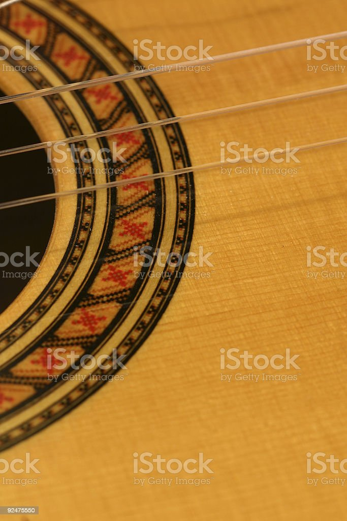 Classical Guitar Parts 2 royalty-free stock photo