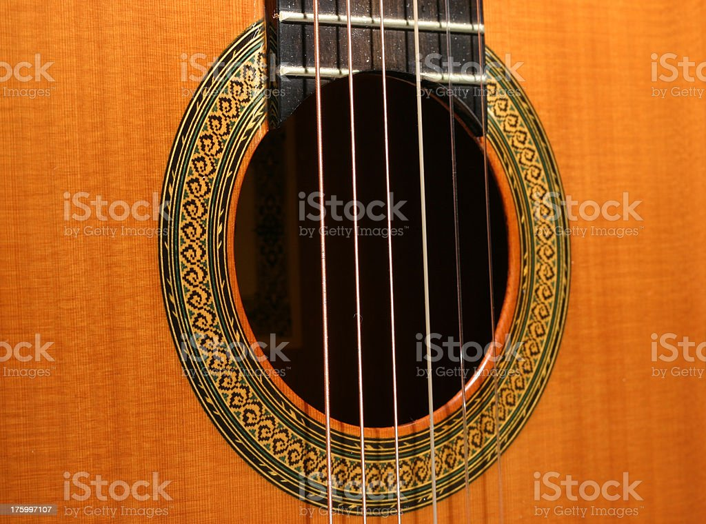 Classical guitar rosette stock photo