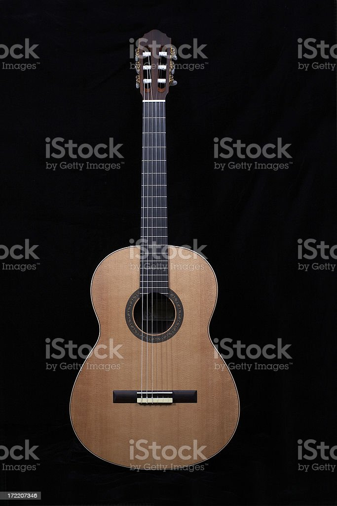 Classical Guitar Straight On royalty-free stock photo