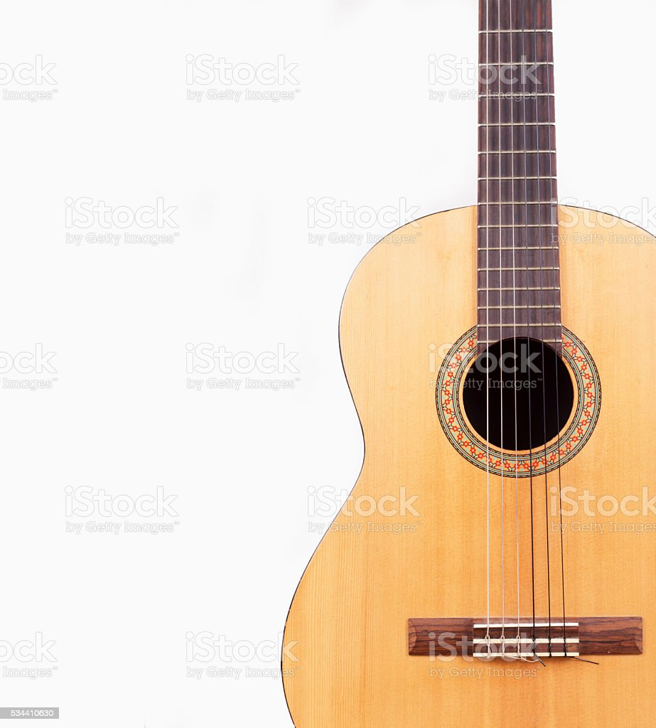 Classical Guitar Wallpaper Isolated On White Foto De Stock Y