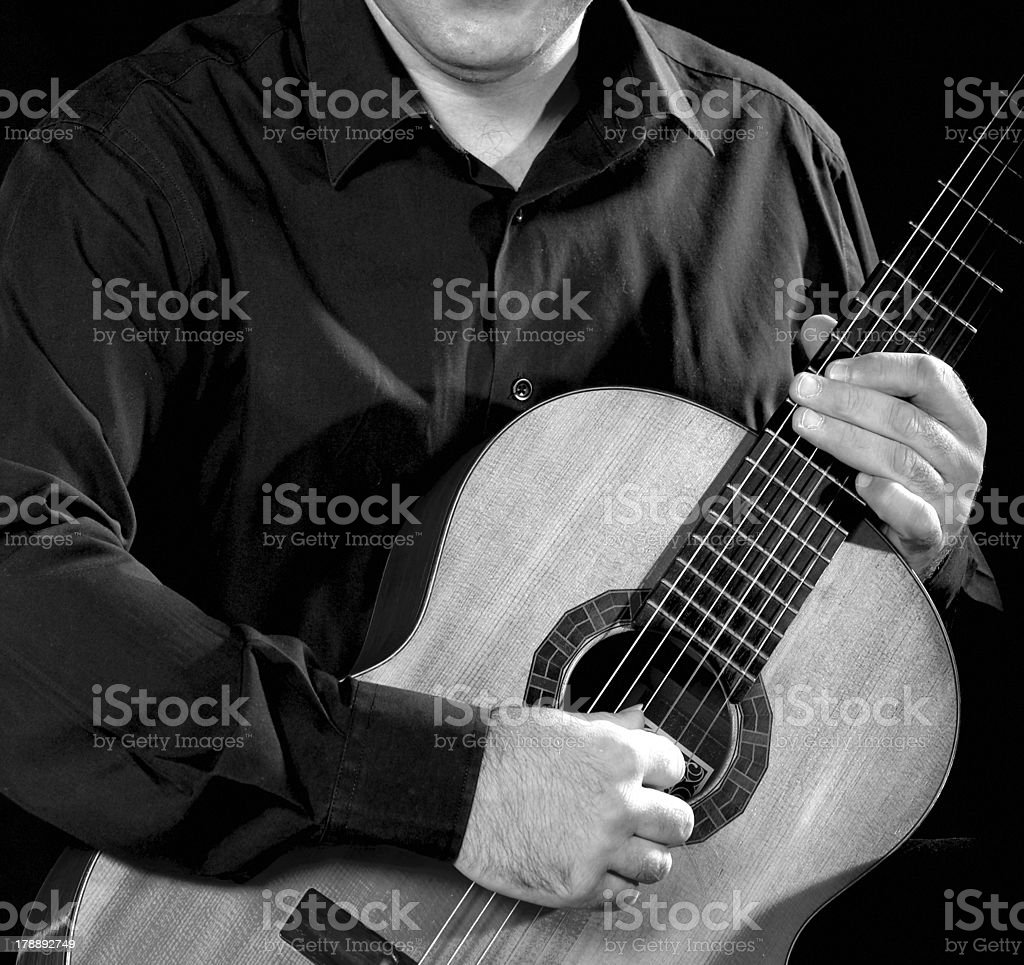 Classical Guitarist royalty-free stock photo