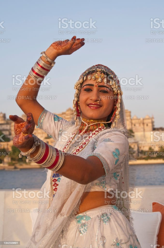 Classical Indian Dance royalty-free stock photo