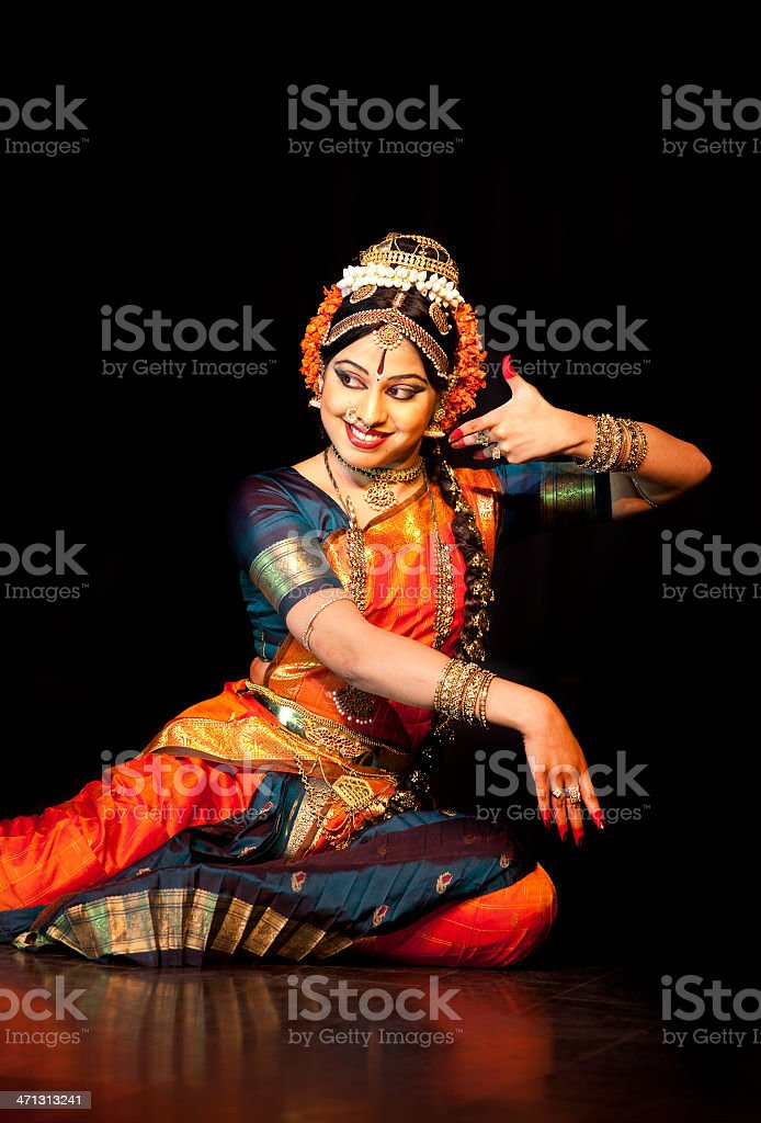 Classical Indian Dancer stock photo
