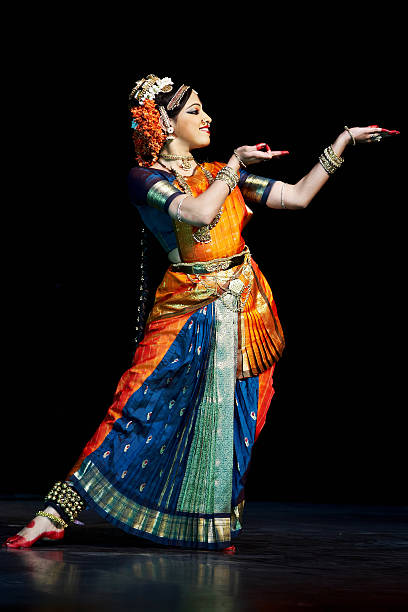 classical indian kuchipudi dancer - classical style stock photos and pictures
