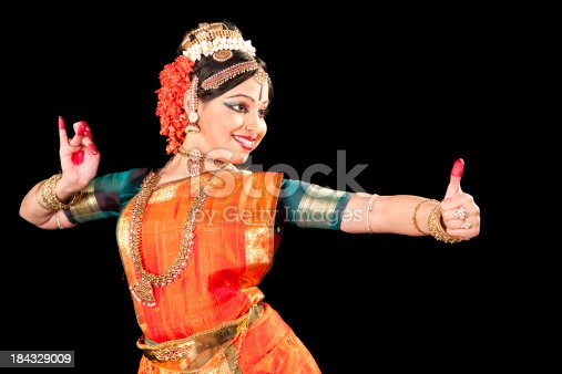 Classical Indian Kuchipudi Dancer. This classical dance originated in Southern India.