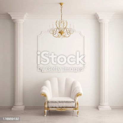 istock Classical interior with an armchair 176959132