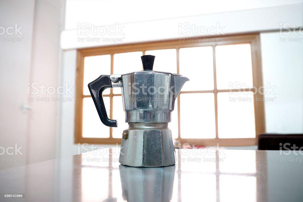 Classical italian coffee machine royalty-free stock photo