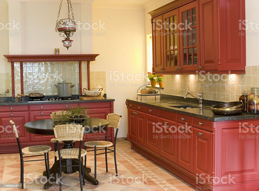 classical kitchen design royalty-free stock photo