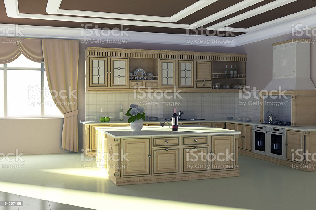 Classical Kitchen royalty-free stock photo