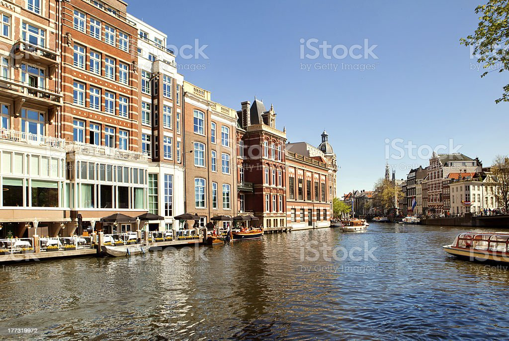 Classical landscape of Amsterdam, Netherlands royalty-free stock photo
