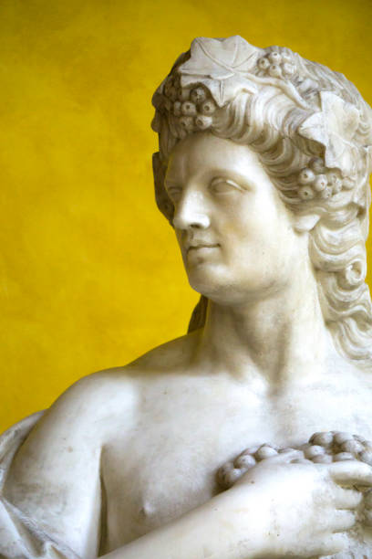 Classical marble statue of the God Bacchus (Dionysus) stock photo