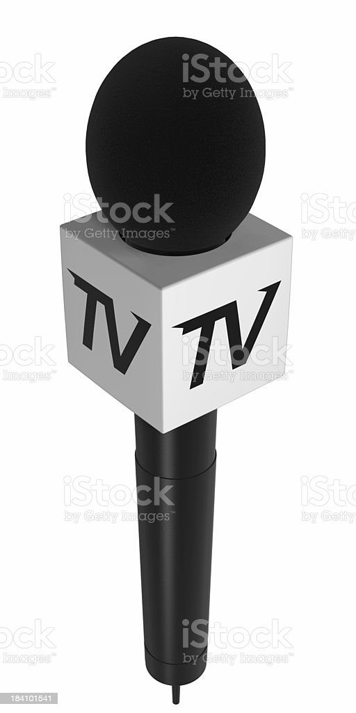 Classical microphone TV stock photo